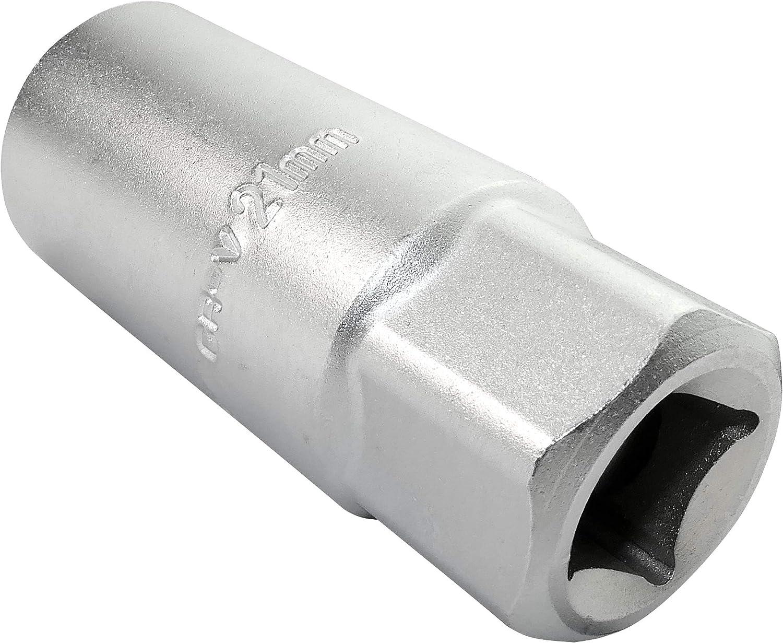 C45176 acero CR-V 1//2x16mm Hexagonal//6 lados Allen Profundo//extendido//largo Plata AERZETIX Cuerpo cil/índrico Vaso para buj/ía de encendido para atornillar//trinquete manual//neum/ático