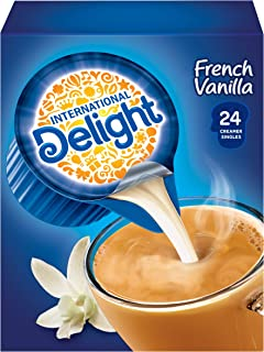 International Delight Coffee Creamer Singles, French Vanilla, 24 Count