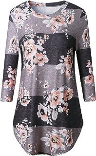 7TECH Long Sleeve Floral Print Top T-Shirt, Coffee