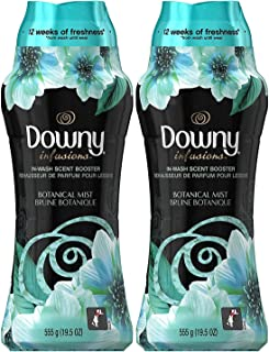 Downy Infusions in-Wash Scent Booster Beads, Botanical Mist, 19.5 Ounce (Pack of 2)