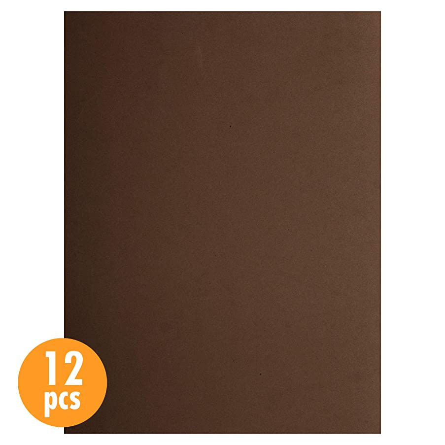 CTG, EVA sheet, 9 x 12 inches, Brown, 12 Pieces