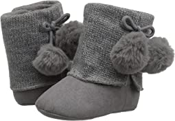 Soft Sole Sweater Boot with Pom Pom (Infant)
