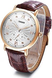 Time100 Multifunctional Genuine Leather Strap Quartz Luminous Men's Watch#W80097G.03A
