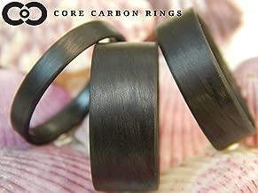 Men's or Women's 100% Carbon Fiber Ring - Handcrafted -Lightweight - Black Band/Matte Finish - Custom Band widths