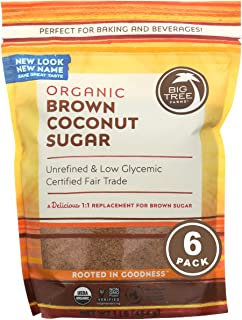 Big Tree Farms Organic Brown Coconut Sugar, Vegan, Gluten Free, Paleo, Certified Kosher, Cane Sugar Alternative, Substitut...