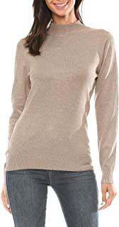 Urban Look Womens Mock Neck Long Sleeve Sweater Knit Top