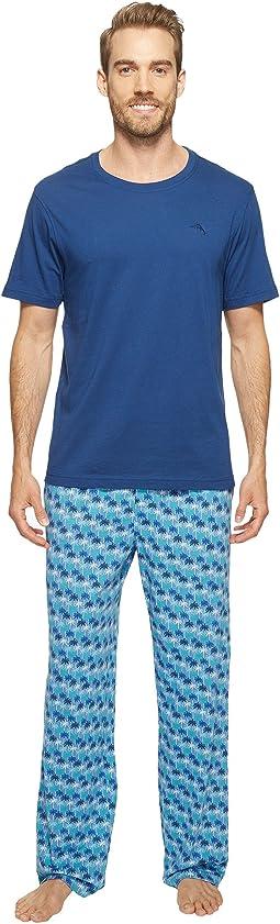 Short Sleeve Jersey Two-Piece Pajama