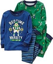 Carter's 12m 12 pijamas de fútbol americano universitario de 4 piezas para niño