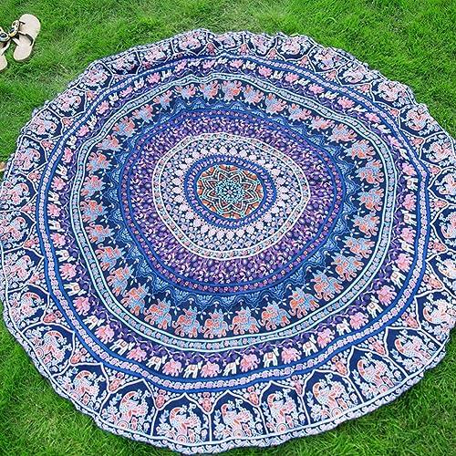 muchas sorpresas Elchom rojoondo indio Mandala Boho toalla de de de playa manta Roundie mantel esterilla de yoga manta tapete de parojo 59 x 59   ordenar ahora