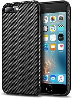 Tasikar Compatible with iPhone 7 Plus Case/iPhone 8 Plus Case Good Grip Slim Case Carbon Fiber Leather Design for iPhone 7...