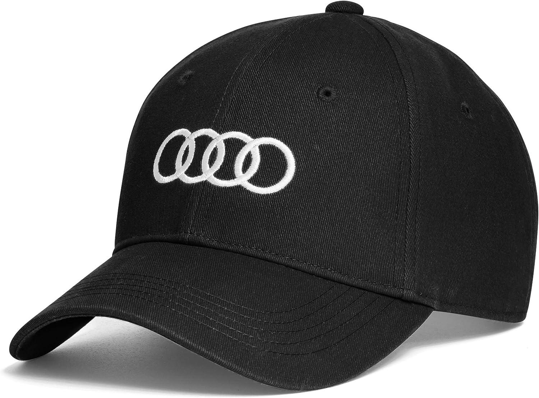 Audi Original Unisex Baseballkappe Schwarz Auto