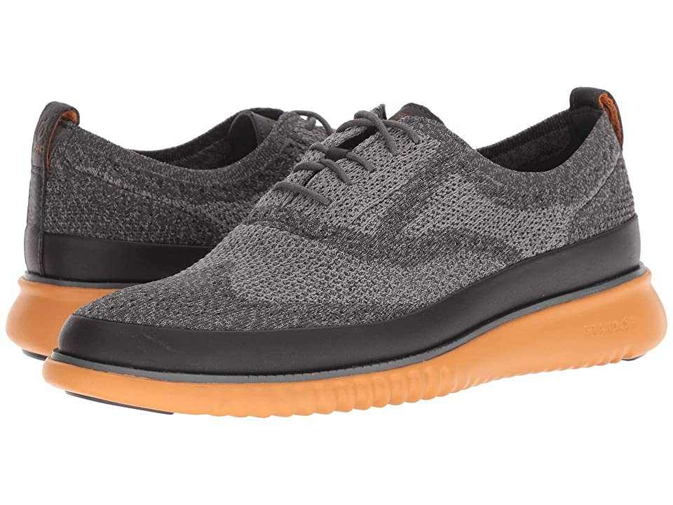 Cole Haan 2.Zerogrand Stitchlite Oxford Water Resistant (Magnet/Ironstone Knit/Golden Oak) Men