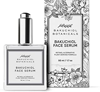 Bakuchiol Facial Serum - Retinol Alternative - Clinical Strength - 100% Plant Derived Ingredients - Bakuchiol, Squalane, Vitamin C, Rose Hip Oil, Vitamin E