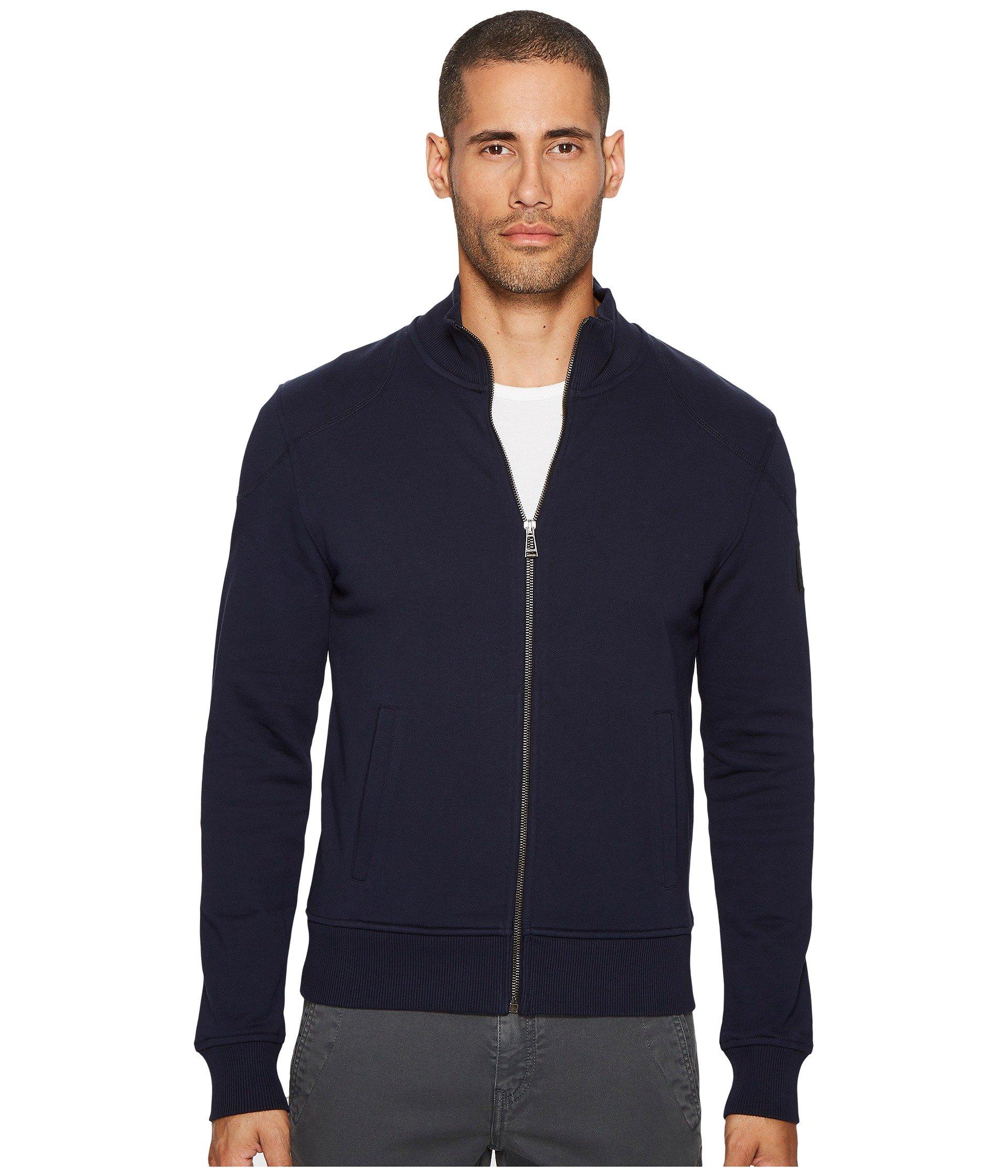 a5bfc82cc4c2 Belstaff Staplefield Fleece Zip-Up Sweatshirt In Navy
