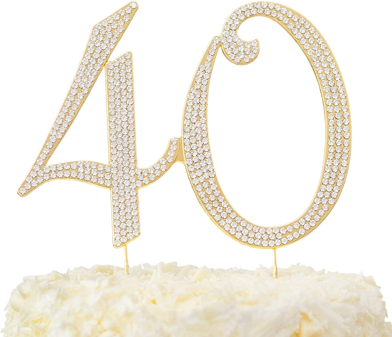 40 Birthday Cake Topper Gold in Box 40th Gift Happy quality Omaha Mall assurance An