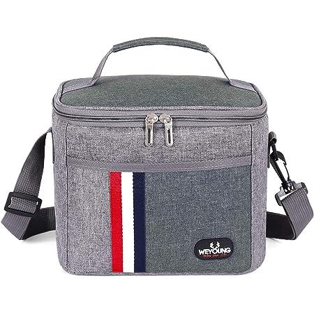Grande sac à repas isotherme et étanche - Unisexe - Pour adulte, enfant gris