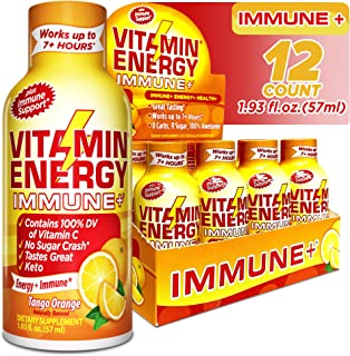 Sponsored Ad - (12 Pack) Vitamin Energy® Shots – Energy Lasts up to 7+ Hours*, Supports Immune Health*, Great Tasting Tang...