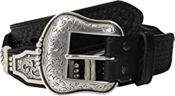 Ariat - Scalloped Belt w/ Rectangle Floral Concho