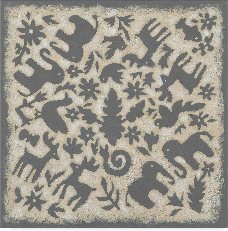 Trademark Fine Art Folk Story in Grey Art by Chariklia Zarris, 14x14