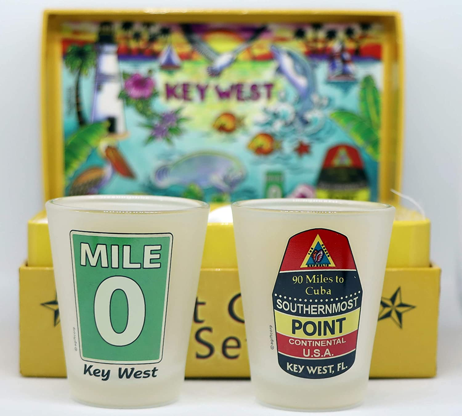 Florida Key West Boxed Shot Set Discount mail order Glass Cheap SALE Start 2 of