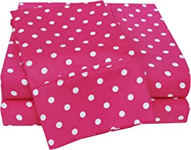 Superior Polka Dot Sheet Set, 600 Thread Count Cotton Blend Bedding Sets, Soft and Wrinkle Resistant Sheets with Deep Fitt...
