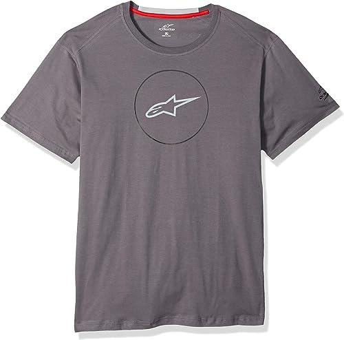 Alpinestars Hommes's Tech T-Shirt Modern Fit manche courtes, Disk Ride Dry El Charcoal, L