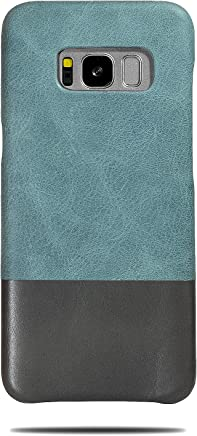 c33672f01 Kulor Cases Samsung Galaxy S8 Leather Case (Ocean Blue & Pebble Gray),  Handmade