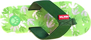 Animal Traks Flip Flops Slippers- Dinosaur Print Sandals for Girls and Boys, Fun for Kids (4 – 8).