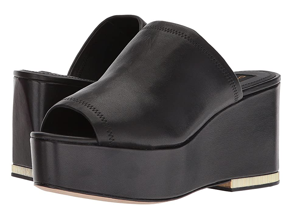 Donna Karan Sade Sandal (Black Leather Stretch Nappa) Women