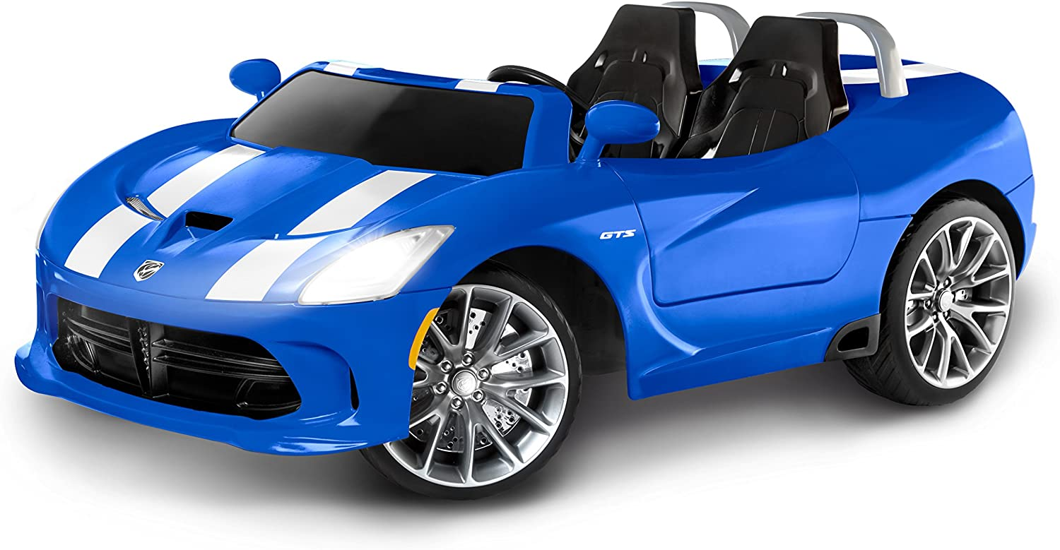 dodge viper electric toy car Kid Trax Dodge Viper SRT Convertible Toddler Ride On Toy, Ages 1 - 1 years  old, 1 Volt Battery, Max Weight of 110 lbs, Two Seater, Working Lights,