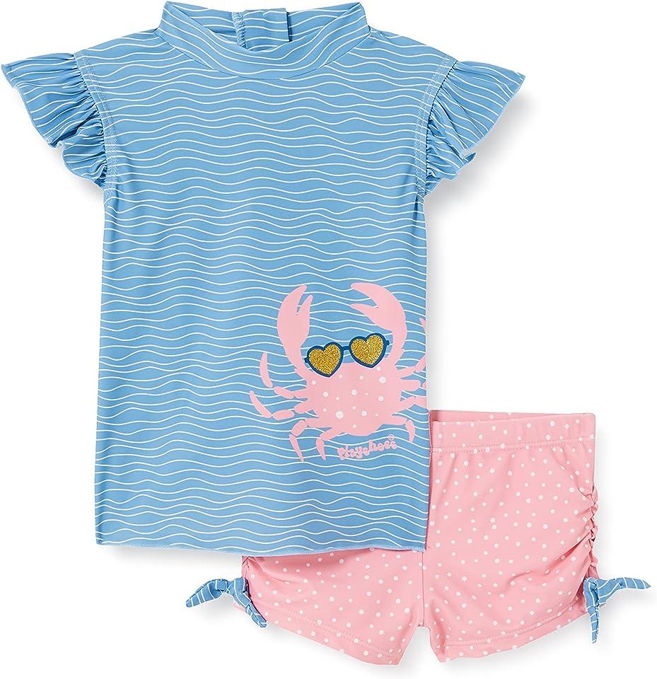 Mädchen Bade Krebs Schwimmshirt-Set