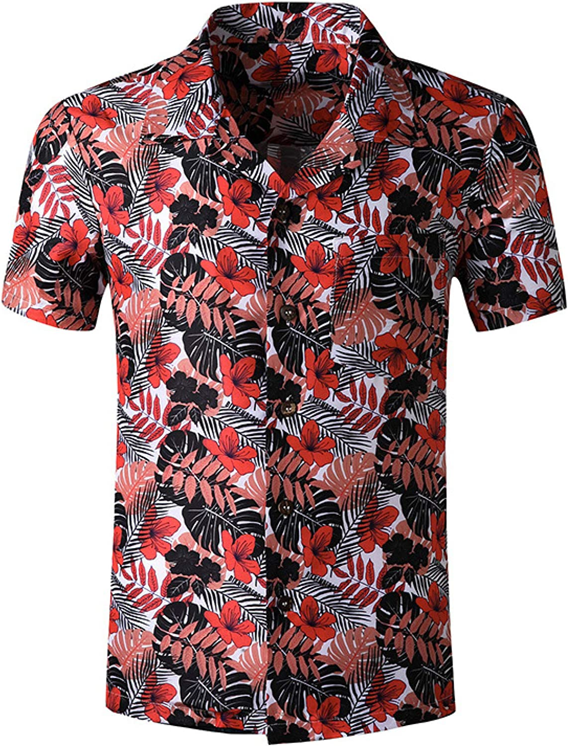 Luandge Men's Personality Printed Same day shipping Beach Tren Fashion Loose Be super welcome Shirt