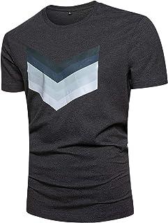 Men's Classic Crew Neck Cotton T-Shirt Fashion Active Jersey Workout Tee Shirts