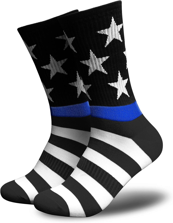 American Flag Socks for Men or Women, Patriotic USA Freedom High Socks, Premium