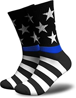 American Flag Socks for Men or Women, Patriotic USA Freedom High Socks, Premium