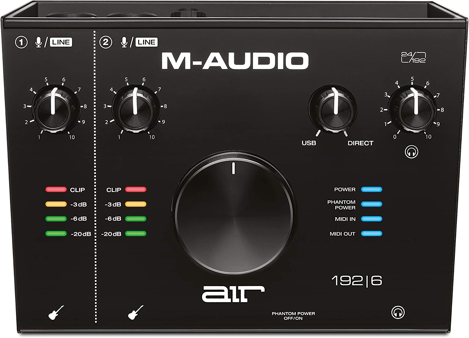 M-Audio AIR 192 6 Max 55% OFF - 2-In 2-Out Interface 2021 model Audio with MIDI USB R