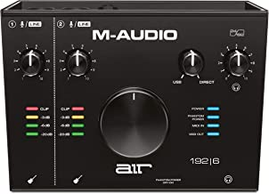 M-Audio AIR 192|6 – 2-In 2-Out USB Audio / MIDI Interface with Recording Software..