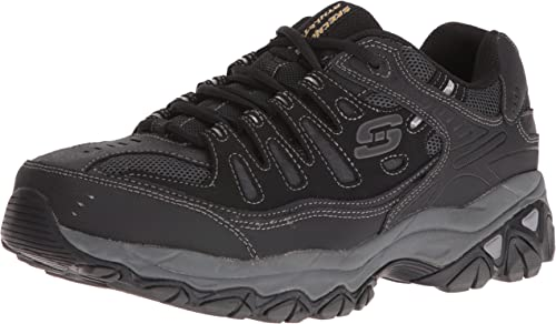 Skechers Sport Hommes's Afterburn Memory Foam Lace-Up paniers,noir,8.5 4E US