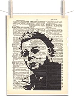 Michael Myers Silhouette 8.5 x 11 Vintage Dictionary Page Unframed Art Print