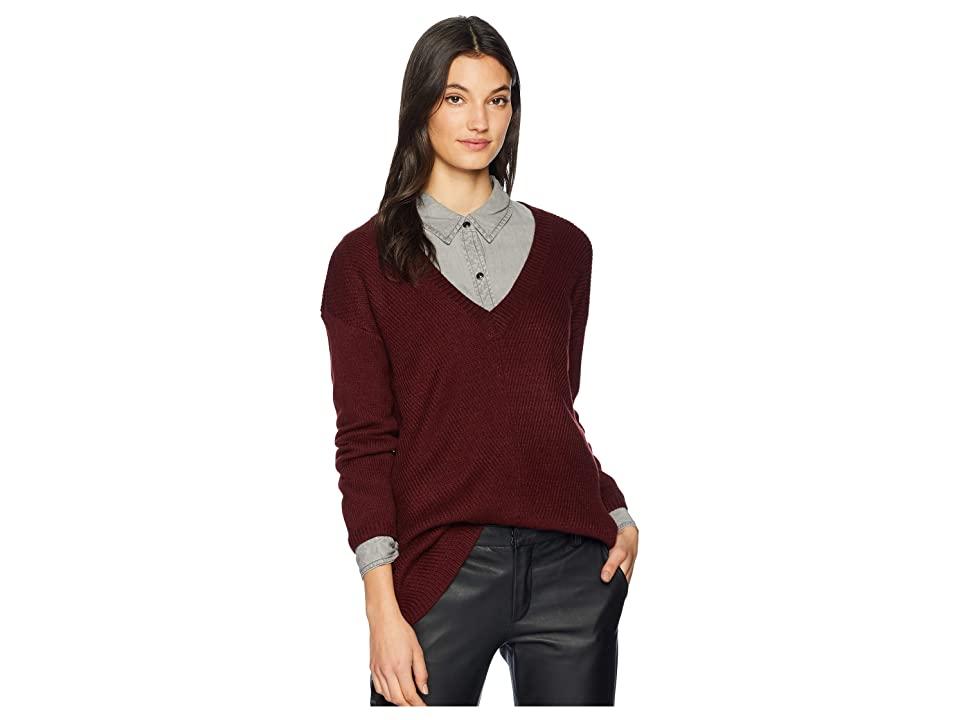 Jack by BB Dakota Mercy Me Soft Knit Sweater (Cranberry) Women