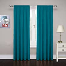 Pairs to Go 15110080X084TEL Cadenza 80-Inch by 84-Inch Microfiber Window Panel Pair, Teal