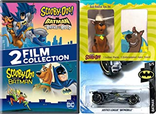 Gang Scooby Mystery Inc. Batman Cartoon Solving Crew Scooby-Doo Meets Batman DVD animated pack & Brave and the Bold + Scooby Figure Bath Pump Towel + Justice League Batmobile Hot Wheels Car