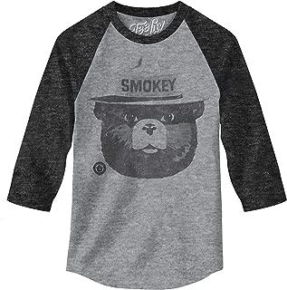Smokey Bear Raglan Jersey - Smokey Bear 3/4 Sleeve Shirt