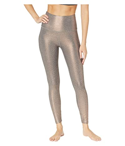 Beyond Yoga Dusted High-Waisted Midi Leggings (Black/White/Rose Gold Dusted) Women
