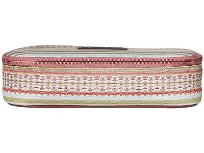 Burton Switchback Case (Aqua Gray Revel Stripe Print) Wallet