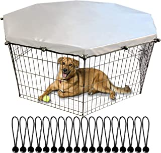 YGCASE Universal Dog Playpen Cover with Sun/Rain Proof Top, Provide Shade and Security for Outdoor and Indoor, Fits All 2...