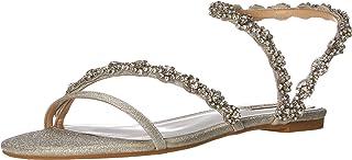 Badgley Mischka Women's Ankle-Strap Flat Sandal