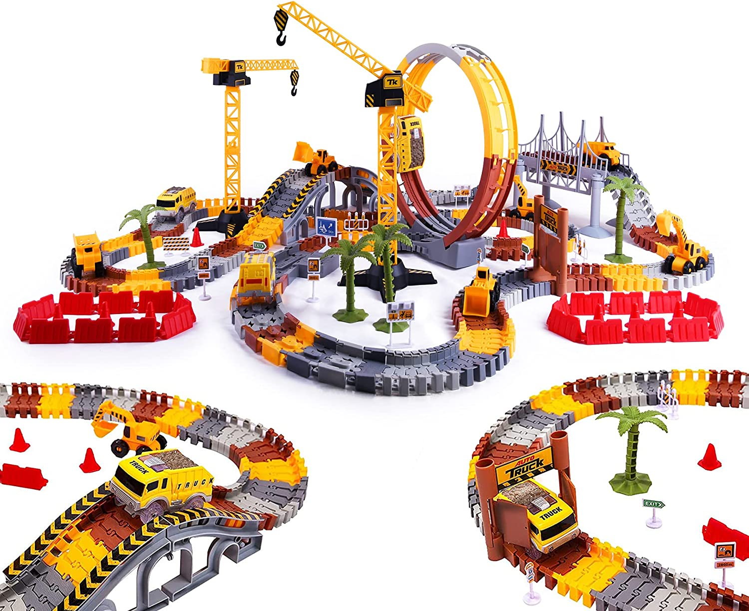 2021 Newest Construction New product! New type Race Track Toy 245PCS Boy for Max 87% OFF Flexible