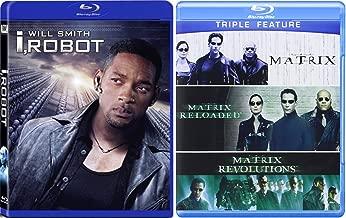 The Matrix Triple Feature (The Matrix / The Matrix Reloaded / The Matrix Revolutions) + I, Robot (Widescreen Edition) [Blu Ray] (2007) Epic Sci-Fi Bundle DVD Movie 4 Film Set
