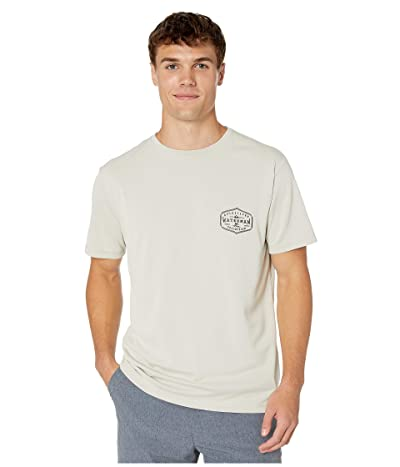 Quiksilver Waterman Gut Check Short Sleeve UPF Surf Tee (Silver Cloud) Men